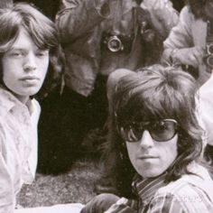 The Rolling Stones Pop Group 1969 Mick Jagger and Keith Richards in Hyde Park Fotoprint bij AllPosters.nl