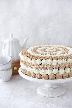Kaffee- Mascarpone- Torte – My TOrt Blueberry Cake, Blueberry Recipes, Vanilla Coffee Cake Recipe, Mascarpone Cake, Healthy Cake Recipes, Frosting Tips, Frozen Chocolate, Pumpkin Spice Cupcakes, Le Chef