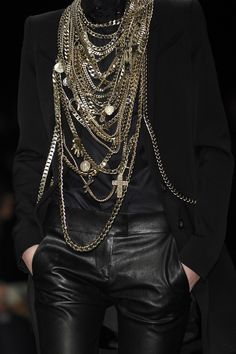 Givenchy layers of chains.