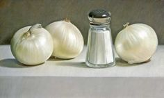 Onions and Saltshaker, Artista: Mary Ann Currier. Pineado de http://www.ket.org/muse/images/currier_onions-and-saltshak.jpg