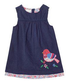 Look what I found on #zulily! Navy Bird Pinafore Dress - Infant, Toddler & Girls #zulilyfinds