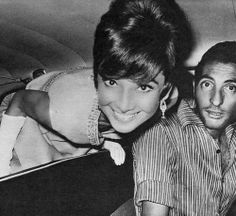 Audrey Hepburn and her driver going to The Cinema Festival in Taormina, Italy, 1965