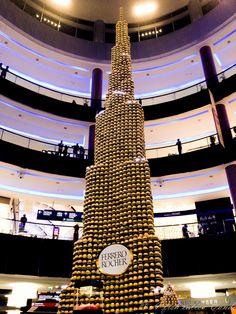 Burj Khalifa made out of chocolates