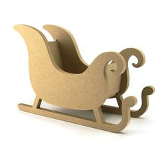 Santa's Sleigh with or without Reindeer. Available from Makers Shed MDF Craft Shapes and Supplies. https://www.makersshed.co.uk/product/christmas/8584-christmas-santa-sleigh