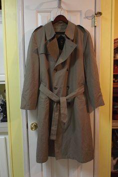 Men's Raincoat Overcoat Trench Coat Warm Winter by Hart