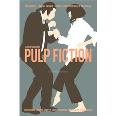 Pulp Fiction 12x18 inches movie poster in blue por ClaudiaVarosio
