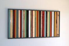 Rustic Wood Art - Stripes - Reclaimed Wood Wall Art. $425.00, via Etsy.