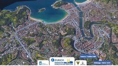 Vista 3D de los 42km del Zurich Maratón Donostia