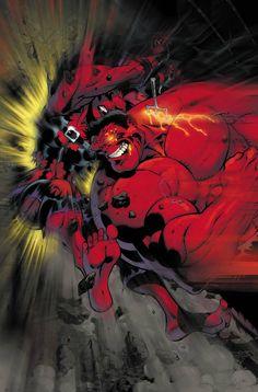 #Red #Hulk #Fan #Art. (Red Hulk vs. Red She-Hulk. From: Hulk#17 Page 7.) By: Ian Churchill. (THE * 5 * STÅR * ÅWARD * OF: * AW YEAH, IT'S MAJOR ÅWESOMENESS!!!™)[THANK Ü 4 PINNING<·><]<©>ÅÅÅ+(OB4E)