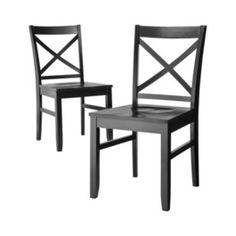 Threshold™ Carey Dining Chair - Ebony - Set of 2