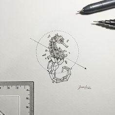 Geometric Beasts   Seahorse