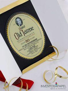 Una invitación creativa para una celebración muy especial #80años #celebracion…