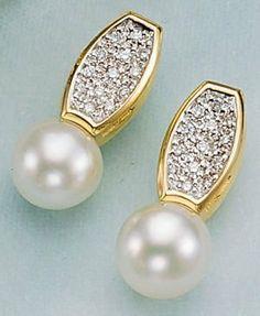 Diamond Jewelry, Pearl Earrings, Pearls, Beautiful, Jewellery, Gemstone Earrings, Stud Earring, Yellow, Earrings