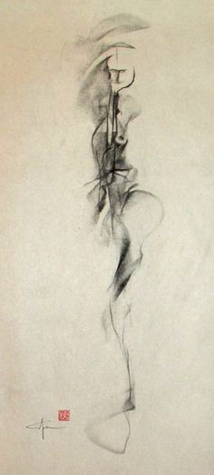 JOHN LIGDA - Figurative Gesture Drawing with Artist Seal