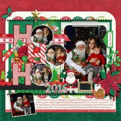 Layout using {Santa Season} Digital Scrapbook Kit by Clever Monkey Graphics available at Gingerscraps http://store.gingerscraps.net/santa-season-by-Clever-Monkey-Graphics.html #clevermonkeygraphics