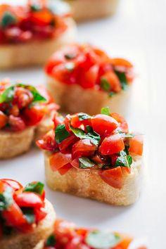 Italian Tomato Bruschetta | Chelsea's Messy Apron