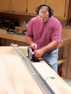 8-ft.Straightedge for $4 - Woodworking Shop - American Woodworker