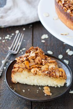 Caramel Almond Upside-Down Cake