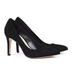 Almond toe pumps - Desirae - minimal suede. classic. elegant
