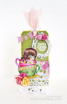 "LAC ~ Reto #24 – Combo de Colores Digi stamp ""Cute Girl"" de Zuri Vice President Jr.« Todo con Papel"