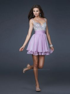 Sequined Bodice Chiffon Skirt Sequined Straps Sweetheart Neckline Sleeveless Short Party Dress