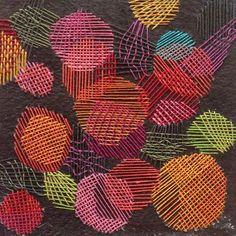 Aspen Leaf Inspiration - Stitching on Paper