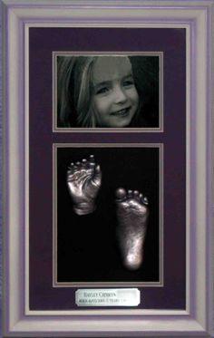 3D Impressions Half Set 1 hand and 1 foot of toddler + Photo. www.fmni.com.au https://www.facebook.com/pages/Forget-Me-Not-Impressions/105458717541?ref=hl