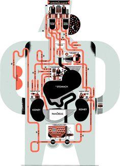 MEN's HEALTH - Raymond Biesinger Illustration Inc.