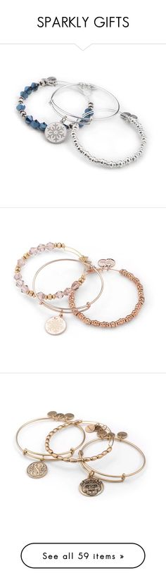 """""""SPARKLY GIFTS"""" by alexandani ❤ liked on Polyvore featuring jewelry, bracelets, shiny silver finish, stackers jewelry, silver hinged bracelet, silver bangles, silver bracelets bangles, alex and ani jewelry, shiny rose gold finish and hinged bangle"""
