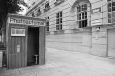 Old-fashioned photo booth in Vienna