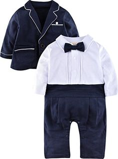 23307a94bb9a0 Offerta di oggi - ZOEREA neonati bambini Gentleman infantile Vola tutine  complessivi abiti di cotone a