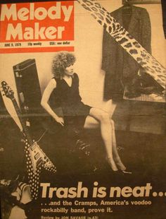 Poison Ivy on the cover of Melody Maker, 1979   Damn!!!   I miss this band