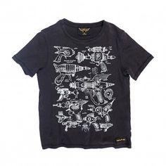 Space Guns Dalton T-Shirt Schwarz  Finger in the nose