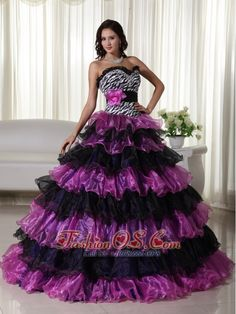 Fashionable Ball Gown Sweetheart Floor-length Organza Beading Quinceanera Dress- $235.89  http://www.fashionos.com  http://www.facebook.com/quinceaneradress.fashionos.us  A form-fitted midriff extends to the hips. Graduated, lettuce-edged ruffles riffle to full-length, meeting in curved crossovers along the front to form tulip-hemmed tiers.