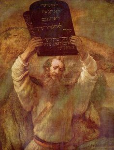 Rembrandtvan Rijn - Moses with the Tablets of the Law - 1659