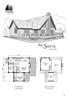 Hiawatha Log Homes is a premier manufacturer of kiln-dried North American Red Pine or White Cedar log homes, located in Michigan's Upper Peninsula. Log Home Floor Plans, Tiny House Plans, Log Home Builders, Mountain House Plans, Apartment Layout, Cabin Plans, Building Plans, Log Homes, Planer