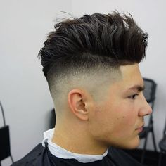 High Skin Fade + Longer Hair On Top #cool haircuts for men #new haircuts for men…