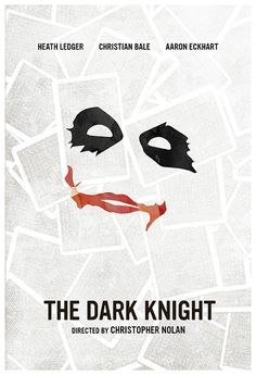 The Dark Knight (2009) ~ Minimal Movie Poster by Calm the Ham #amusementphile