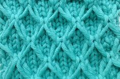 "How to Knit * Slip Stitch Pattern ""Slippy Mesh"""