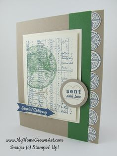 Masculine card, The Open Sea Stampin' Up!