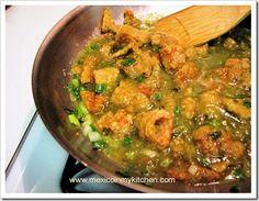 How to Make Fried Pork Skin in Green Sauce / Chicharrón en Salsa Verde Recipe on Yummly