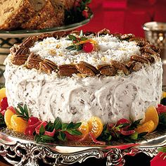 Fresh Orange Italian Cream Cake..this sound so delish.....sure would be good with a cup of coffee....