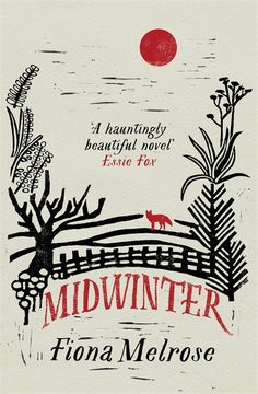 Midwinter book jacket cover design typography stamp engraving