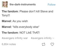 (spoiler) when all that remains are the original avengers, rocket, nebula and the dora milaje Avengers Memes, Marvel Memes, Marvel Dc Comics, Marvel Avengers, Marvel Funny, Love You, My Love, W 6, Avengers Infinity War