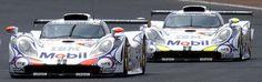 1998 Le Mans 1st and 2nd 996 GT1-98 (Turbo 3.2): #26 Allan McNish/Stéphane Ortelli/Laurent Aiello, #25 Jörg Müller/Uwe Alzen/Bob Wollek - Stuttcars.com
