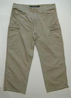 40889dd6341d DKNY JEANS Cargo Capri Crop Pants Women Size 8 Green Khaki Chinos Mid Rise  Army #