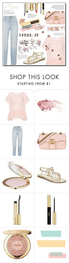 """""""Have fun : Sweet pink"""" by devaanggraenii ❤ liked on Polyvore featuring Velvet, Yves Saint Laurent, Gucci, Guerlain and By Terry"""
