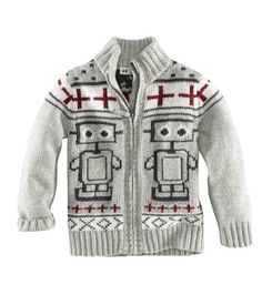 h&m; robot cardigan best thing EVER