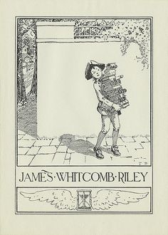 [Bookplate of James Whitcomb Riley] by Pratt Institute Library, via Flickr