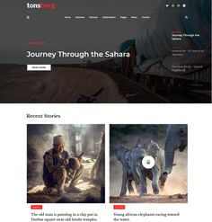 Tonsberg - ModelTheme Blog Websites, African Elephant, Berg, Wordpress Theme, True Stories, Old Things, Adventure, Modern, Blogging
